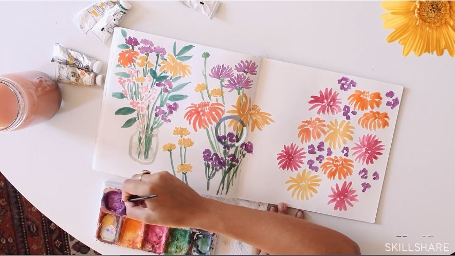 Beginner art journaling classes you can take online: Illustration & Inspiration: Keeping a Sketchbook #artjournaling #artjournalideas #artjournalclasses #howtodraw