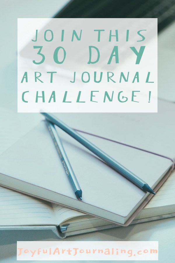Join this 30 Day Art Journal Challenge! #artjournal #artjournalideas #artjournalchallenge
