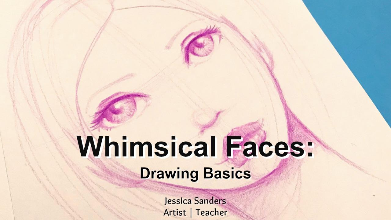 Whimsical Faces: Drawing Basics is just one of the free classes from this post: Beginner art journaling classes you can take online. #artjournaling #artjournalideas #artjournalclasses #drawingfaces