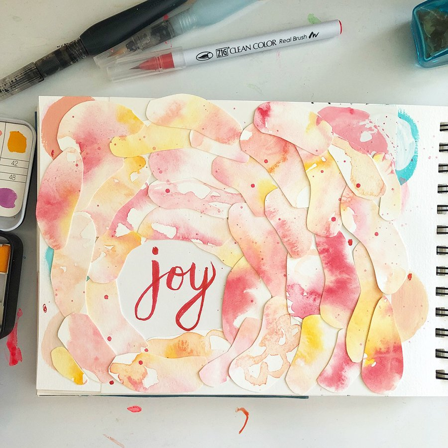 Day 7 of the 30 Day Art Journal Challenge, by Jules Amador www.joyfulartjournals.com #joyfulartjournals #artjournals #artjournalideas #30dayartjournalchallenge #creativebuggetsmessy