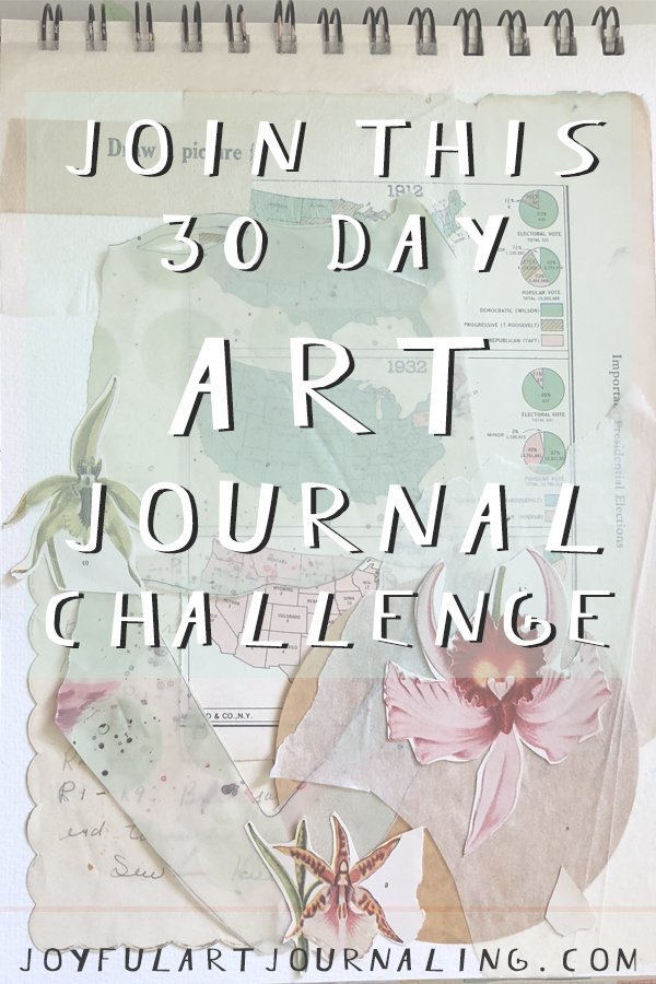 Join this 30 Day Art Journal Challenge (and see examples of the daily prompts!) #artjournaling #artjournalideas #joyfulartjournaling