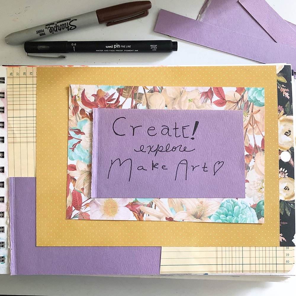 Day 13 of the 30 Day Art Journal Challenge, by Jules Amador www.joyfulartjournaling.com #joyfulartjournaling #artjournals #artjournalideas #30dayartjournalchallenge #creativebuggetsmessy