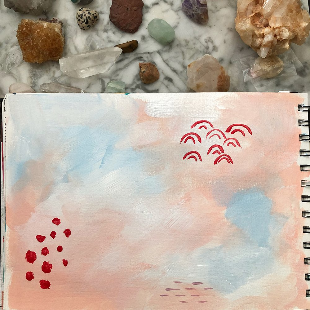 Day 24 of the 30 Day Art Journal Challenge with #GetMessy, by Jules Amador www.joyfulartjournaling.com #joyfulartjournaling #artjournals #artjournalideas #30dayartjournalchallenge #creativebuggetsmessy