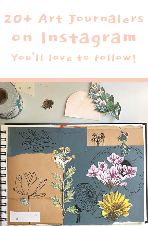 Get Inspired by these 20+ Art Journalers on Instagram! #joyfulartjournaling