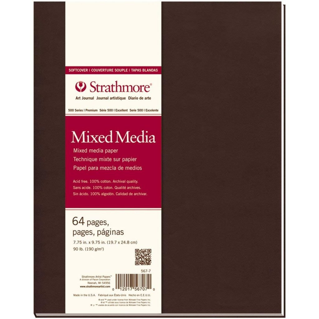 recommended art journal supplies: Strathmore Softcover Mixed Media Art Journal