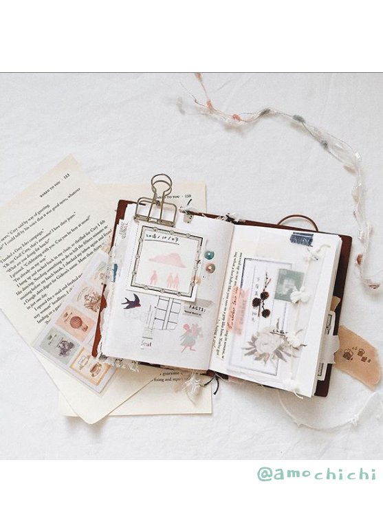 Get Inspired by these 20+ Art Journalers on Instagram: meet @amochichi on #joyfulartjournaling