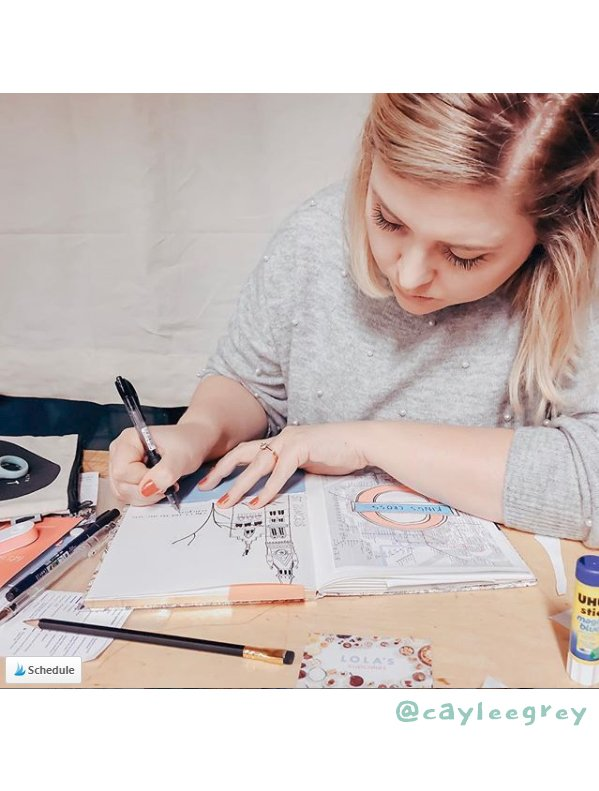 Get Inspired by these 20+ Art Journalers on Instagram: meet @cayleegrey on #joyfulartjournaling