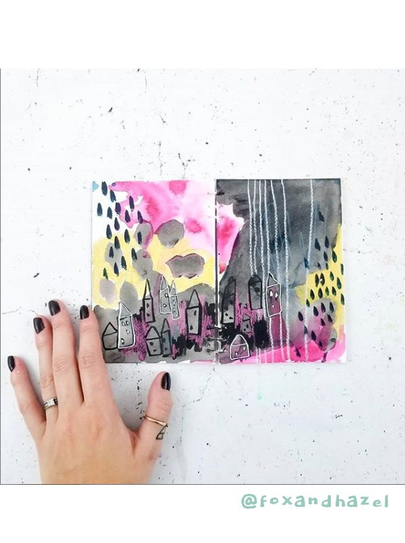 Get Inspired by these 20+ Art Journalers on Instagram: meet @foxandhazel on #joyfulartjournaling