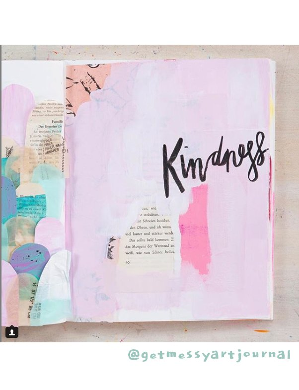 Get Inspired by these 20+ Art Journalers on Instagram: meet @getmessyartjournal on #joyfulartjournaling