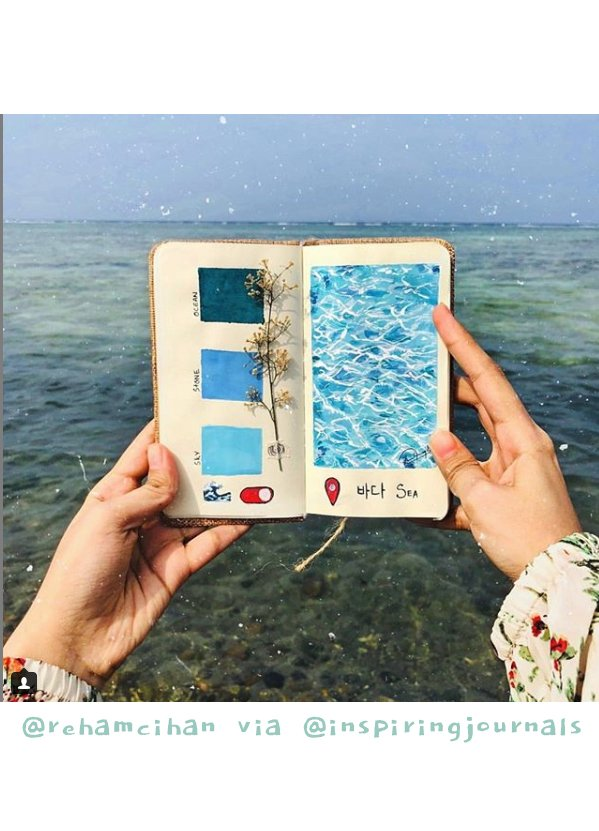 Get Inspired by these 20+ Art Journalers on Instagram: meet @inspiringjournals and @rehamcihan on #joyfulartjournaling
