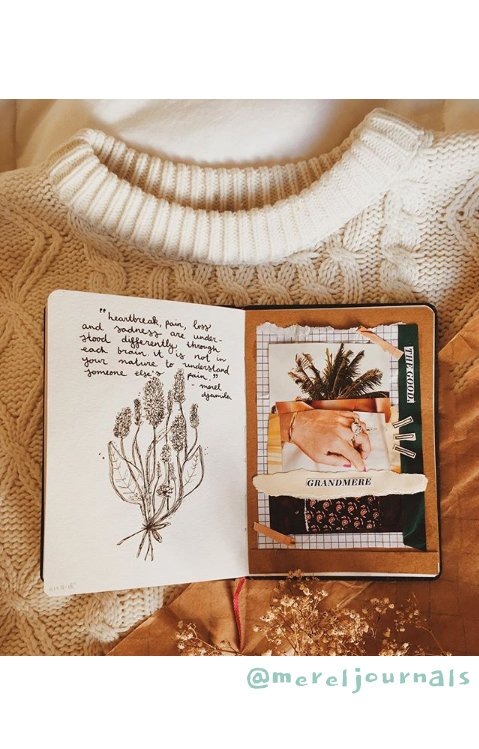 Get Inspired by these 20+ Art Journalers on Instagram: meet @mereljournals on #joyfulartjournaling