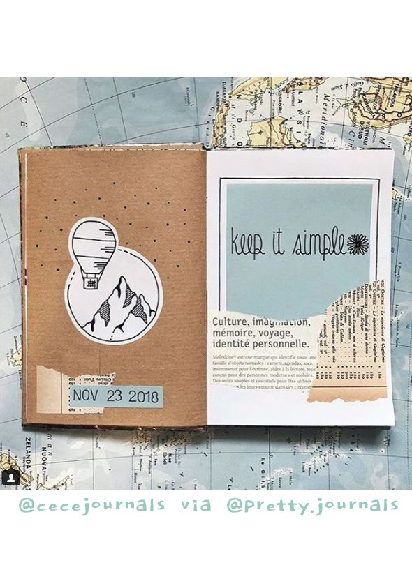 Get Inspired by these 20+ Art Journalers on Instagram: meet @cecejournals via @pretty.journals on #joyfulartjournaling