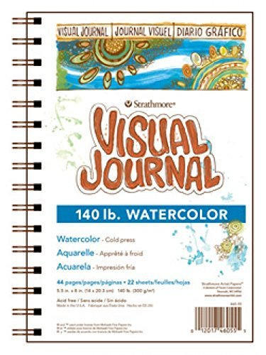 recommended art journal supplies: Strathmore visual journal