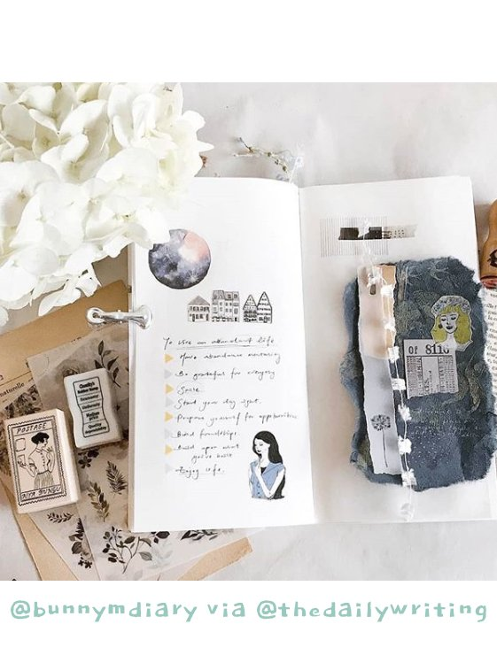 Get Inspired by these 20+ Art Journalers on Instagram: meet @thedailywriting on #joyfulartjournaling