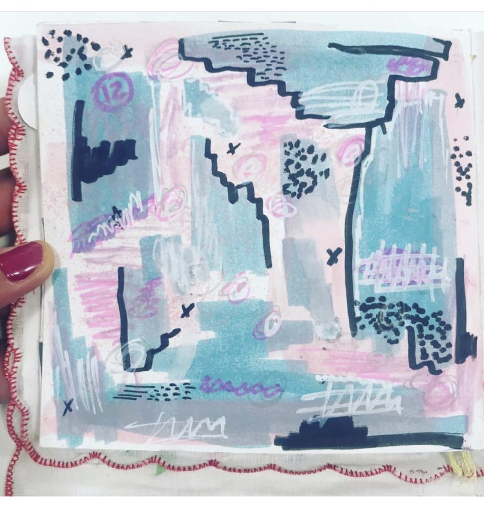 Joyful Art Journaling January Challenge: abstract by @clasmabreu