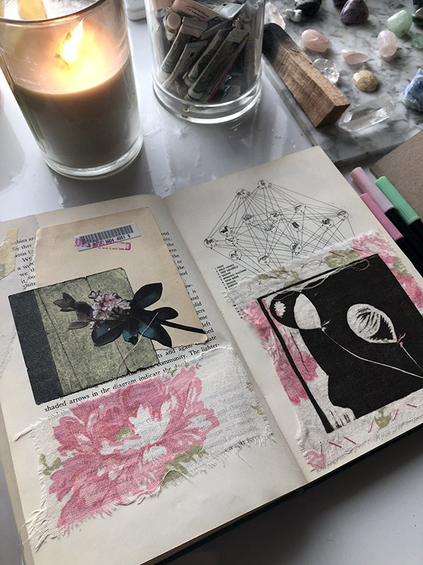 The Best Journals for Art Journaling: Upcycled Vintage Books made into Journals made the list! #joyfulartjournaling #upcycledartjournal