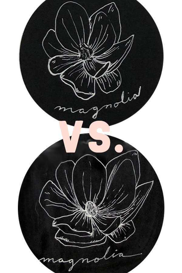 Magnolia vs Magnolia, from the How to Draw Modern Florals Book Review on JoyfulArtJournaling.com #joyfulartjournaling
