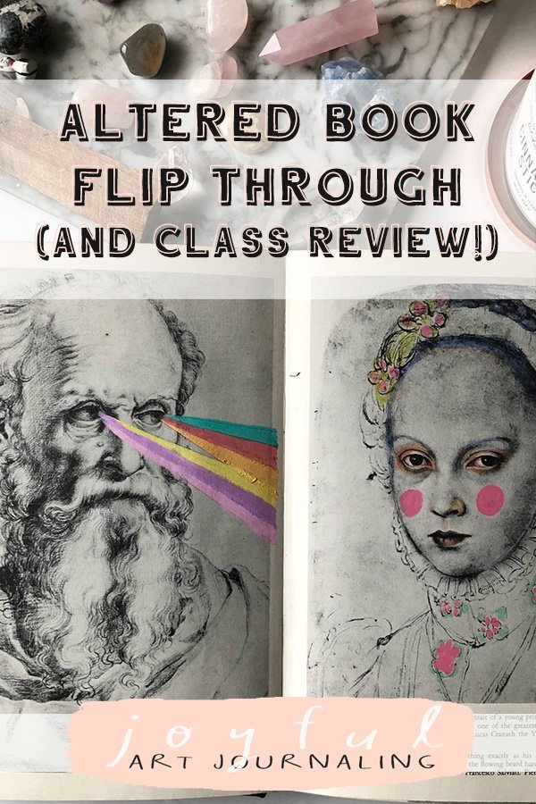 Check out this Altered Book Flip Through and Class Review from JoyfulArtJournaling.com!