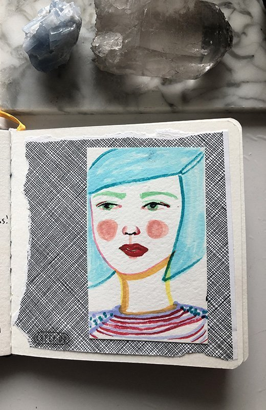 15 Ways to Use Portraits in Your Art Journal (that aren't hard or intimidating!) Draw on another piece of paper and then glue it into your art journal. #joyfulartjournaling #artjournalideas