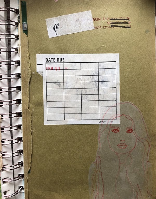 15 Ways to Use Portraits in Your Art Journal (that aren't hard or intimidating!) Like this traced portrait, collaged in with complimentary elements. #joyfulartjournaling