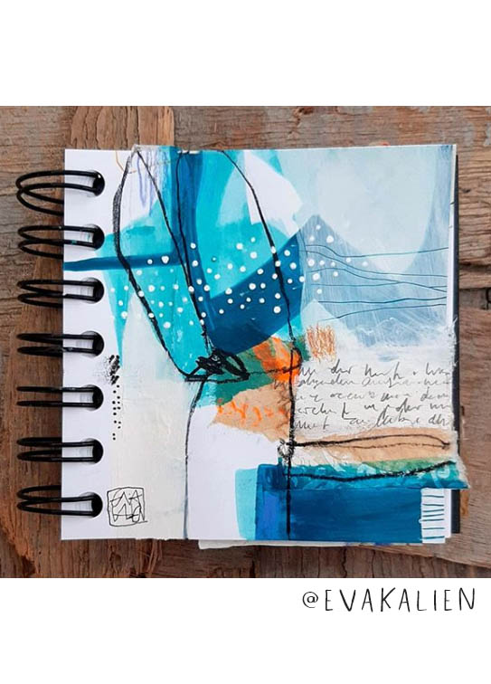 Check out all this Art Journal Inspiration: This list of Inspiring Art Journalers on Instagram includes @evakalien #joyfulartjournaling #artjournals #artjournalideas #artjournalinspiration