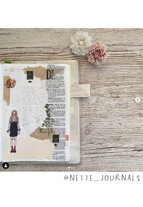 Lovely Art Journal Inspiration! This list of (More) Inspiring Art Journalers on Instagram includes @nette_journals plus almost 20 more! #joyfulartjournaling #artjournals #artjournalideas #artjournalinspiration