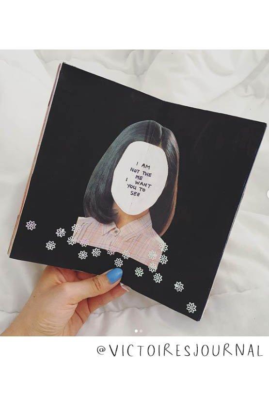 Art Journal Inspiration Pt. 2: More Inspiring Art Journalers on Instagram. @victoiresjournal is inspiring for sure! #joyfulartjournaling #artjournals #artjournalideas #artjournalinspiration