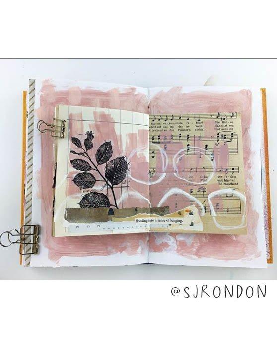 Art Journal Inspiration Pt. 2: More Inspiring Art Journalers on Instagram. We think you'll find @sjrondon is inspiring for sure! #joyfulartjournaling #artjournals #artjournalideas #artjournalinspiration