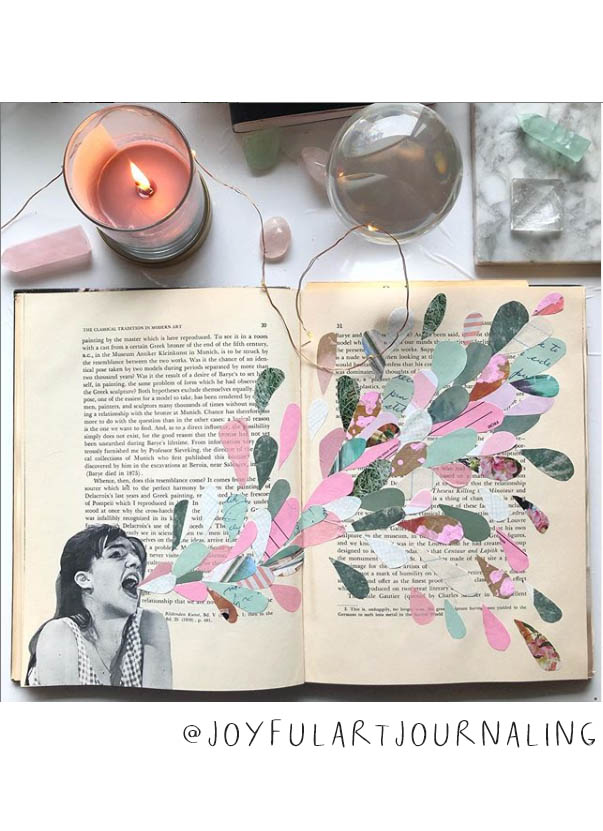 Art Journal Inspiration Pt. 2: More Inspiring Art Journalers on Instagram. I had to toot my own horn and include myself in this list... I hope you love my feed @joyfulartjournaling on Instagram! #joyfulartjournaling #artjournals #artjournalideas #artjournalinspiration