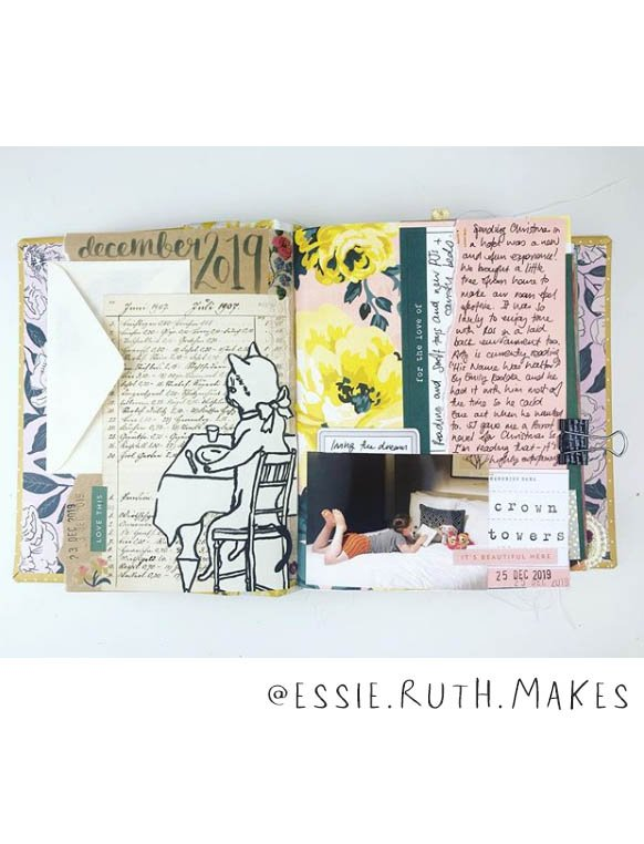 Looking for some Art Journal Inspiration? This list of (More) Inspiring Art Journalers on Instagram includes @essie.ruth.makes #joyfulartjournaling #artjournals #artjournalideas #artjournalinspiration