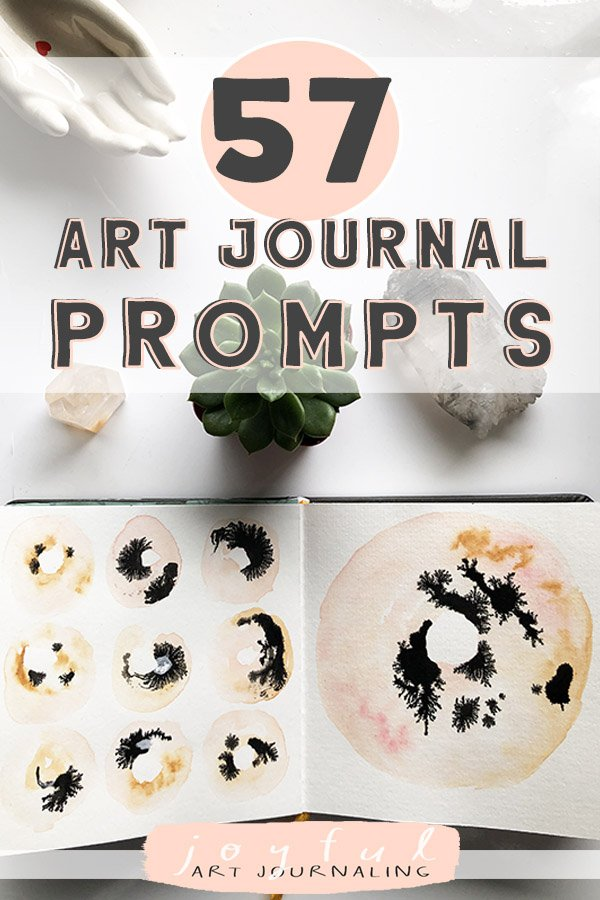 Check out these joyful, creative 57 Art Journal Prompts on JoyfulArtJournaling.com!