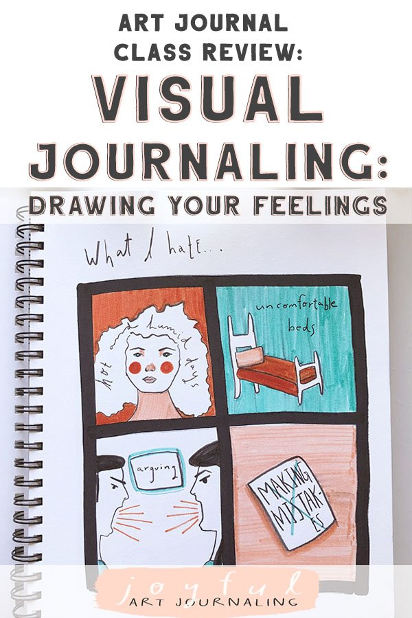 "I've been taking creative classes on Skillshare for years now, but when I took ""Visual Journaling: Drawing Your Feelings"" last week, I know I had to share it (and my class projects!) with all of you, because I think you'll love taking it, too. (Especially when you learn, below, how you can take it for free!) #artjournalingideas #joyfulartjournaling"
