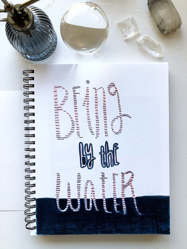 """My first project from the class """"Visual Journaling: Drawing Your Feelings"""" that I review in this post. #artjournalingideas #joyfulartjournaling"""