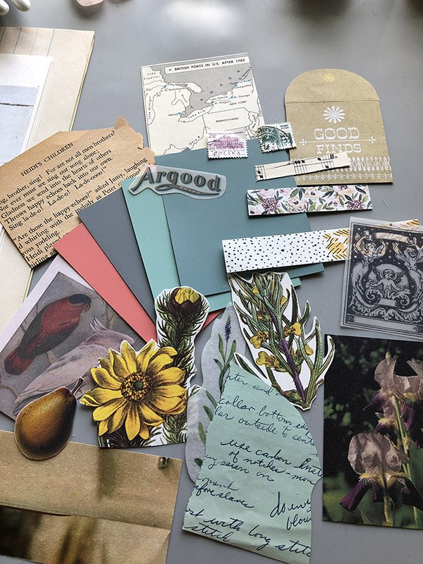 More of the ephemera you can win in this art journal ephemera giveaway! Enter to win on Instagram. #joyfulartjournaling