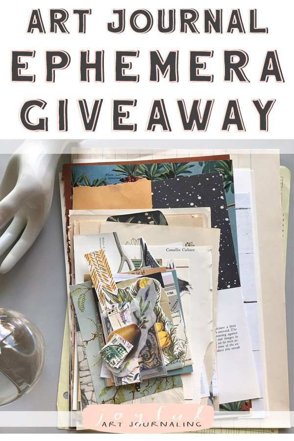 See all the prizes I'm giving away in this art journal ephemera giveaway! Enter to win on Instagram. #joyfulartjournaling