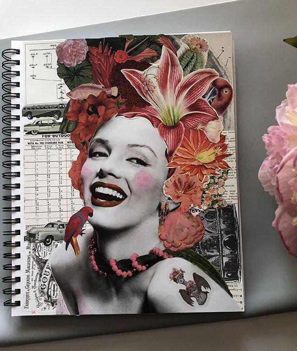 My Day 1 for the #JoyfulArtJournalingJune art journal challenge: joy!