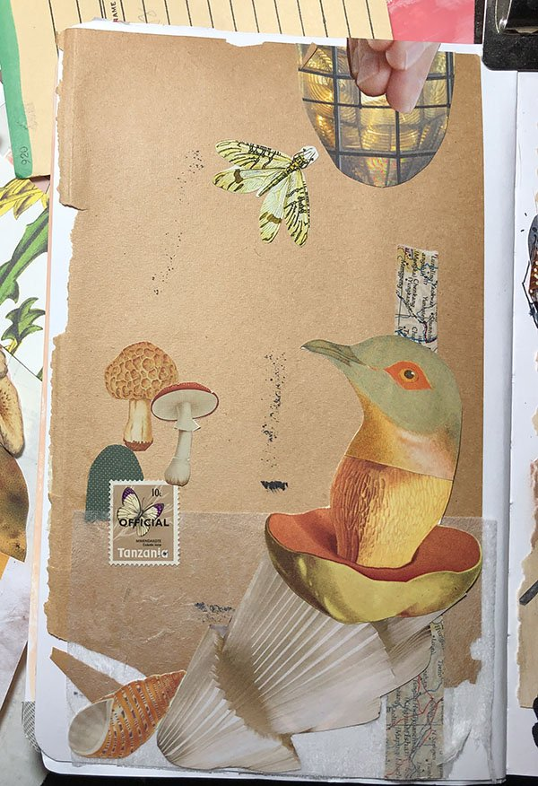 My collage for Day 2 for the #JoyfulArtJournalingJune art journal challenge... the prompt: collage.