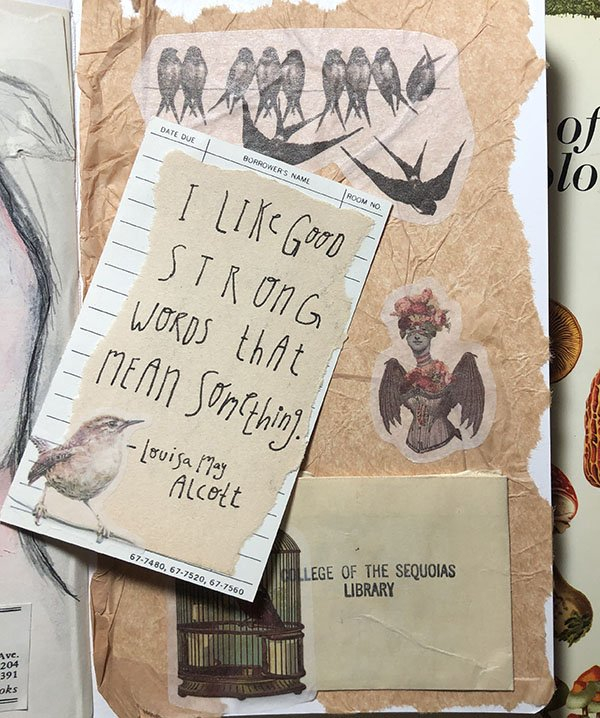 This is with the quote card pulled out of the pocket in my art journal for Day 5 for the #JoyfulArtJournalingJune challenge... the prompt: quote.