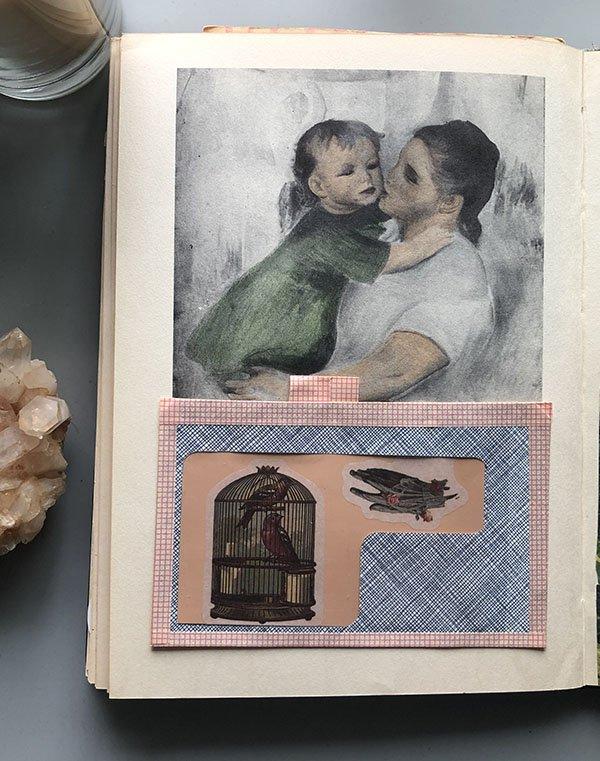 For Day 8 for the #JoyfulArtJournalingJune art journal challenge prompt: envelope.