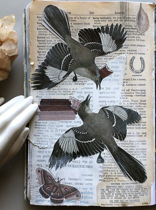 Bird was the prompt on day 20 of the Joyful Art Journaling 30 day challenge (days 16-30) #joyfulartjournaling #artjournalchallenge