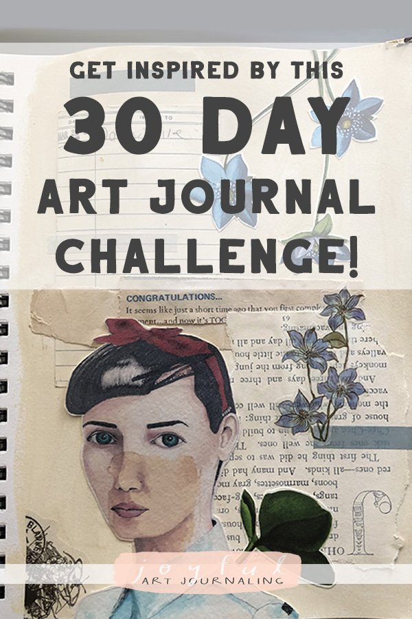Get Inspired by these images from the Joyful Art Journaling Challenge! #joyfulartjournaling #artjournals