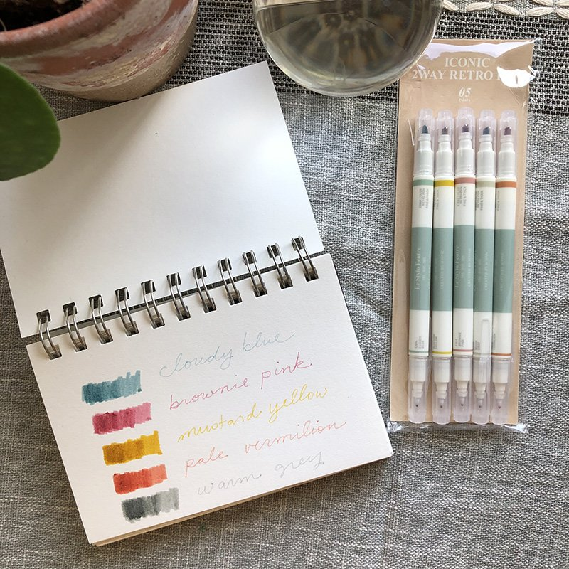 Quick & honest Pen set review: These 5 dual markers have colors I'm obsessed with! I love them in my art journals, planners and more. And they're under $7 for the set! BUT, they do have some drawbacks....