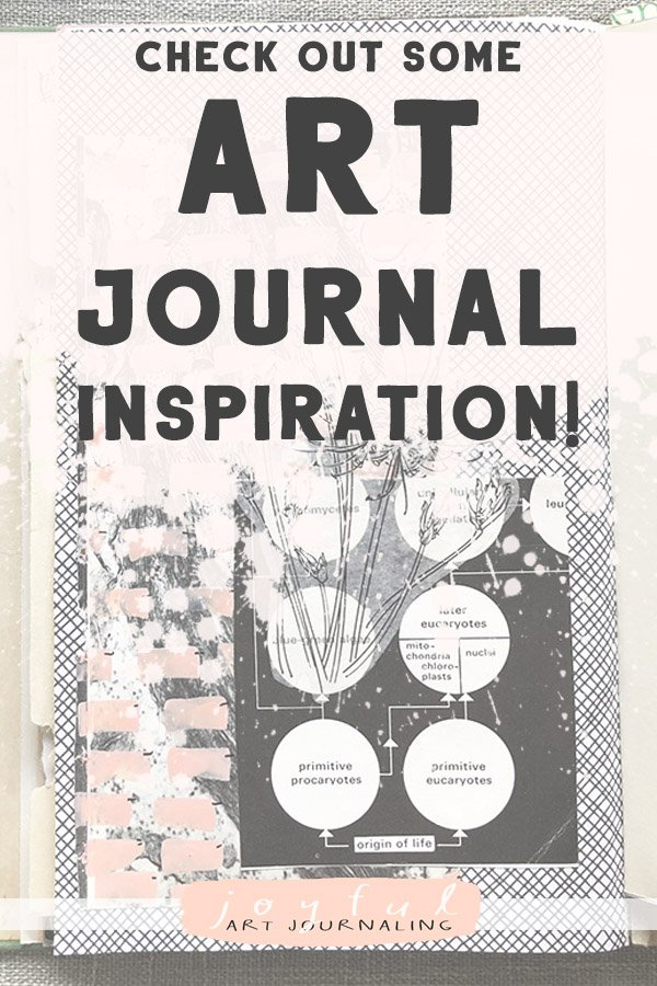 Get an update and some serious(ly creative!) art journal inspiration. I've been working in my art journals, as well as altered books, gelli printing, and more! #joyfulartjournaling