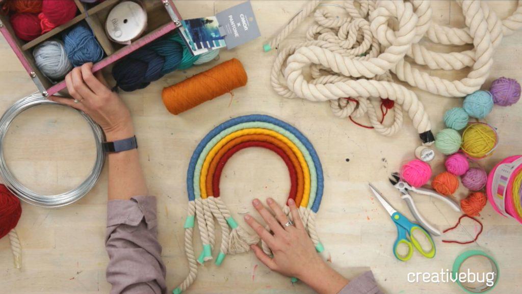 Wrapped Rope Rainbow class by Faith Hale on Creativebug